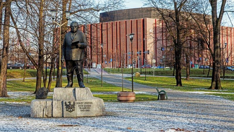 Monument à Jerzy Zietek photographie stock