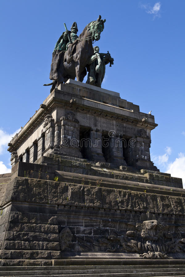 Monument à Kaiser Wilhelm I à Koblenz image libre de droits