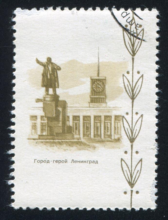 Monument à Lénine à Léningrad images stock
