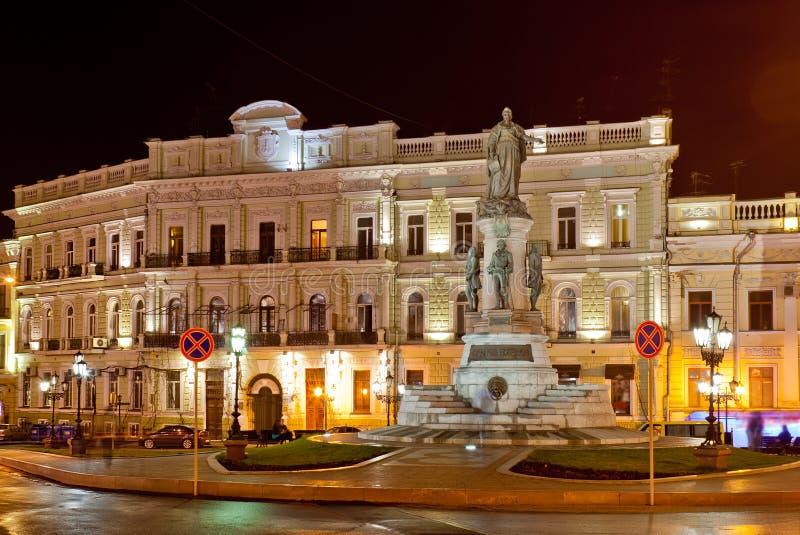 Monument à l'impératrice Catherine. Odessa. images libres de droits