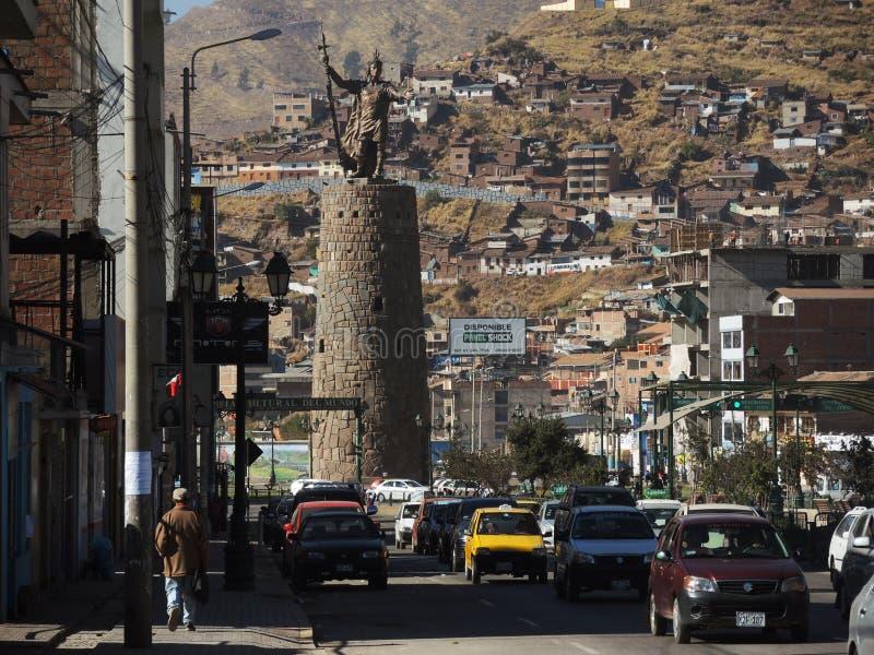 Download Monument à L'Inca, Cusco, Pérou Photo éditorial - Image du antique, bleu: 77159426