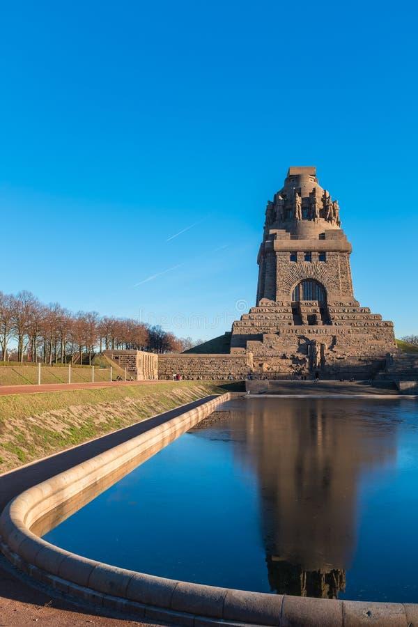 Monument à la bataille des nations dans Lepizig photo stock