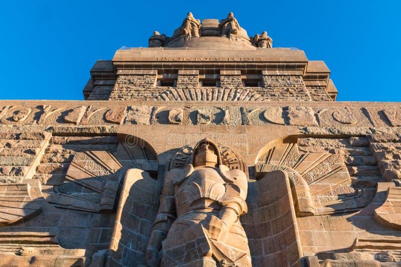 Monument à la bataille des nations dans Lepizig photos libres de droits