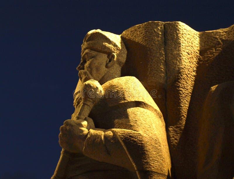 Monument à la réunification de l'Ukraine et de la Russie image libre de droits