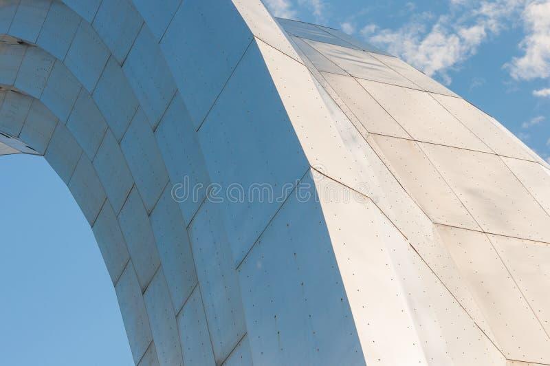 Monument à la Réunion de l'Ukraine et de la Russie à Kiev image stock