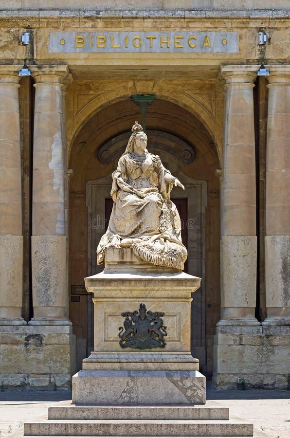 Monument à la Reine Victoria, La Valette, Malte photo stock