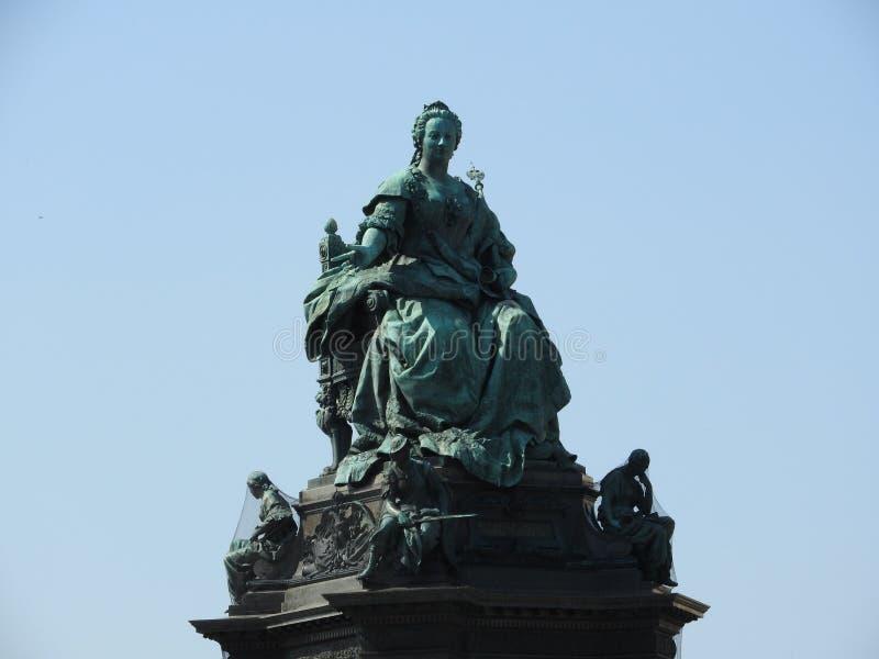 Monument à Maria Theresa Monument, fin, Autriche, Vienne, temps clair, ciel bleu image stock