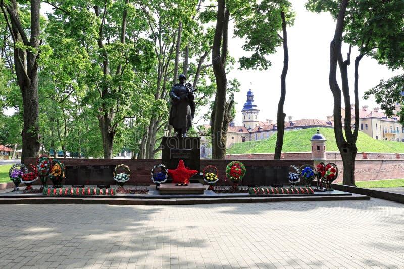 Monument à périr de la deuxième guerre mondiale au Belarus image stock