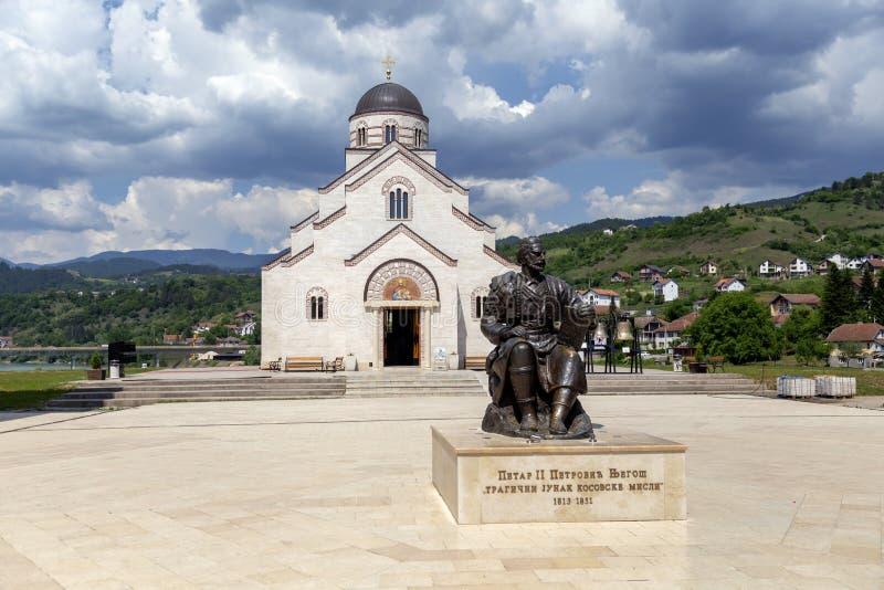Monument à Petar II Petrovich Njegosh images libres de droits