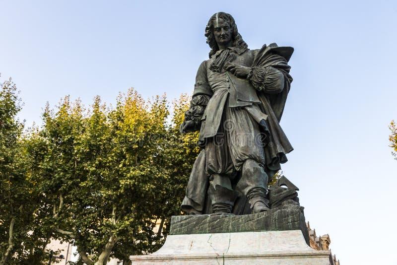 Monument à Pierre-Paul Riquet, Beziers, France photographie stock