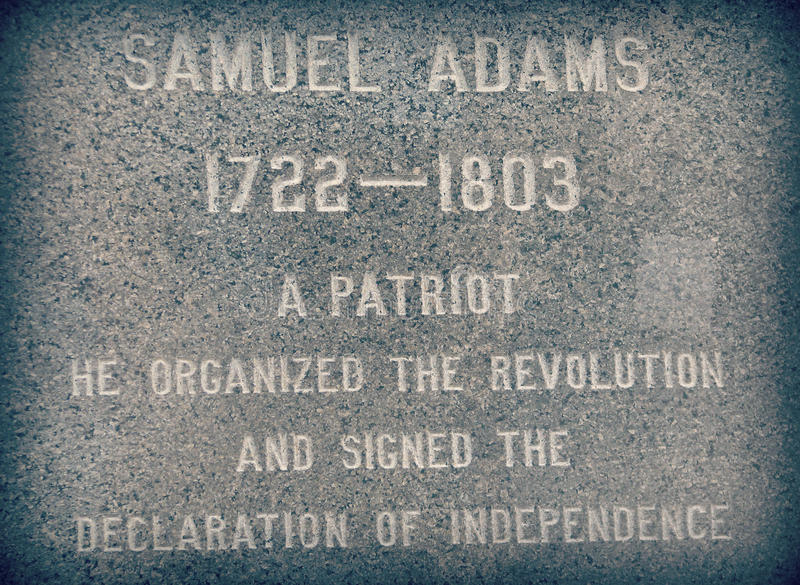 Monument à Samuel Adams photo libre de droits