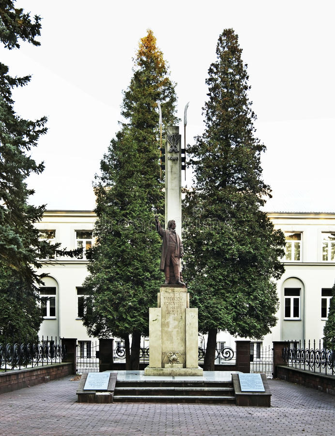 Monument à Tadeusz Kosciuszko dans Busko-Zdroj poland photo libre de droits
