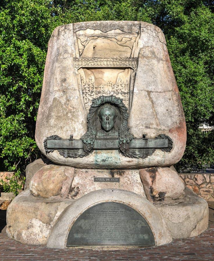 Monument à Theodore Dehone Judah, vieux Sacramento photo stock