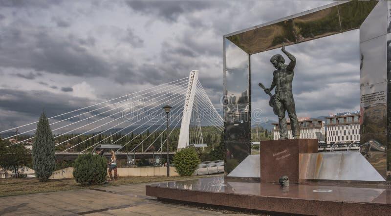 Monument à V Vysotsky photographie stock