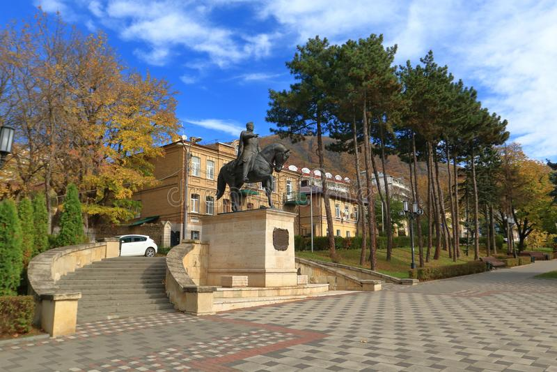 Monument équestre au Général Aleksey Petrovich Yermolov dans Pyatigorsk, Russie photographie stock