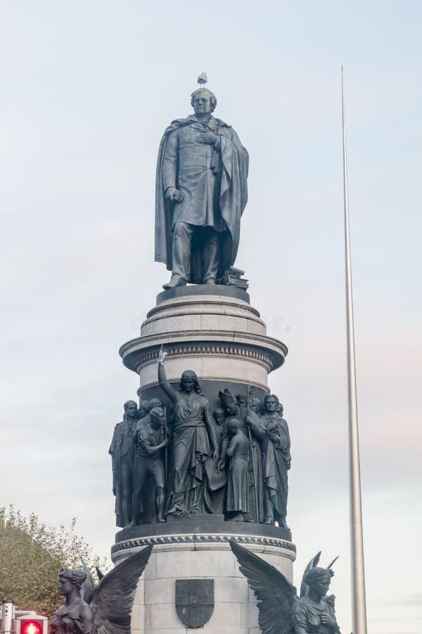 Monument över Daniel O'Connell i Dublin, Irland royaltyfri foto