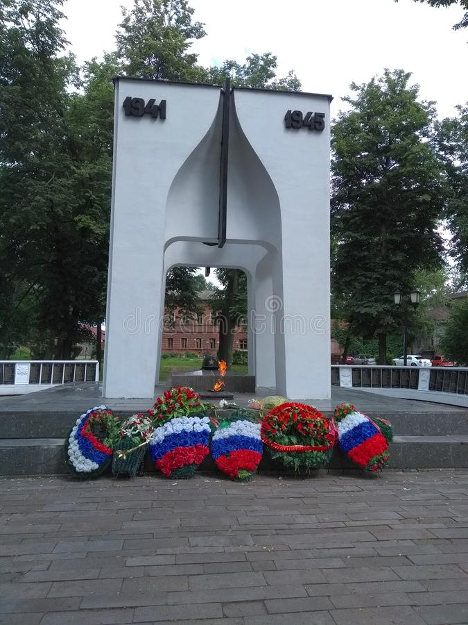 Monument 'ewiger Ruhm 'Suzdal stockfoto