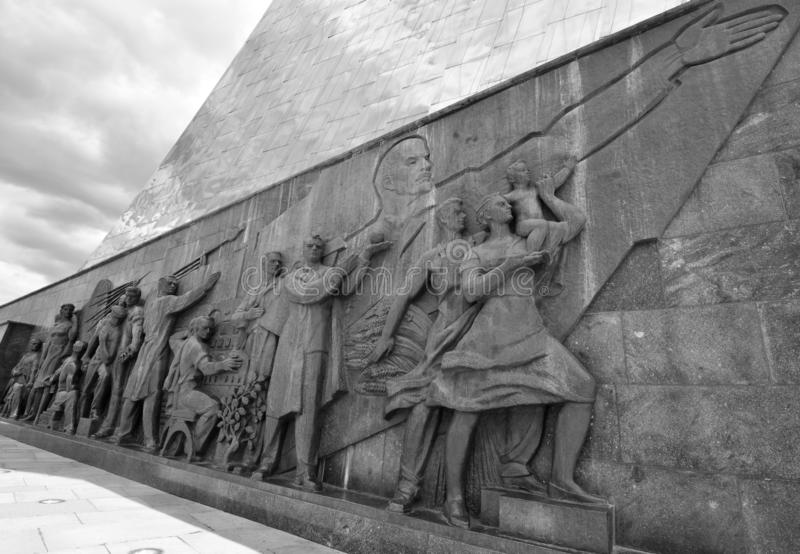 """Monument """"aux conquérants de l'espace """", Moscou, Russie images stock"""