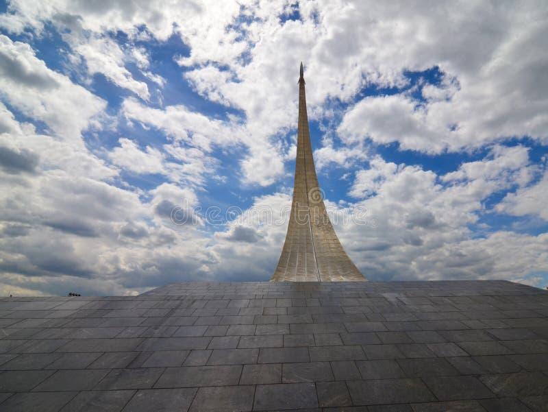 """Monument """"aux conquérants de l'espace """", Moscou, Russie images libres de droits"""