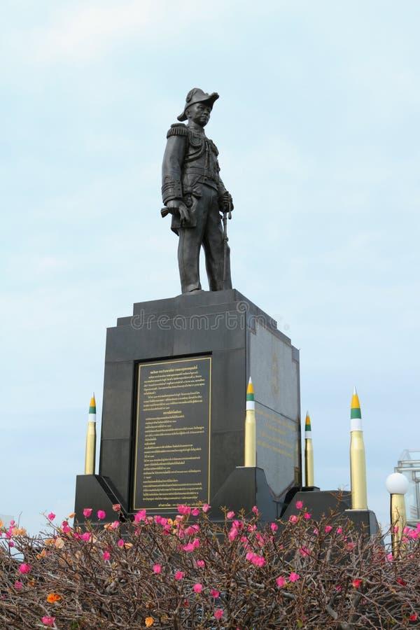 Monument aan Admiraal Chumphon op de Golf van Thailand in het Koninkrijk van Thailand royalty-vrije stock foto's