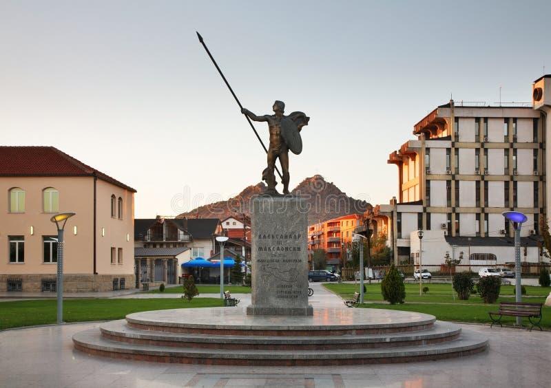 Monument aan Alexander Groot in Prilep macedonië royalty-vrije stock foto's