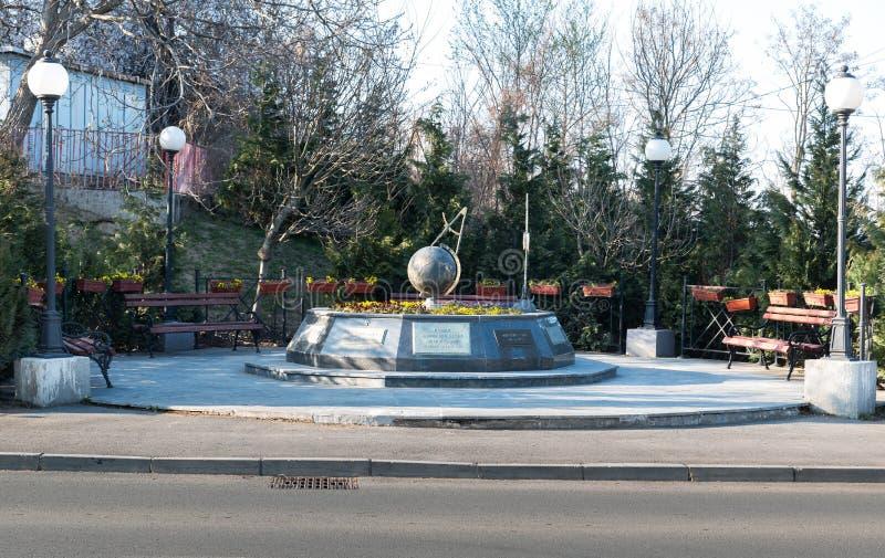 Monument aan de burgerlijke slachtoffers van de NAVO het bombarderen van Servië in 1999 stock fotografie