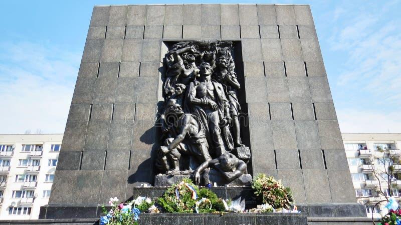 Monument aan de Gettohelden stock afbeeldingen