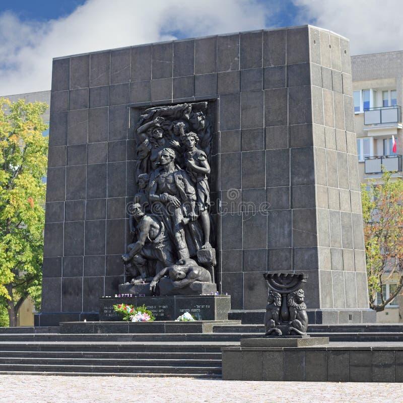 Monument aan de Gettohelden in Warshau royalty-vrije stock foto