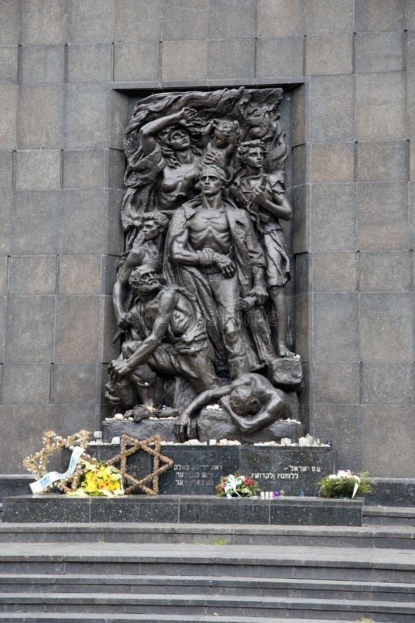 Monument aan de Gettohelden in Warshau, Polen, Europa royalty-vrije stock foto's