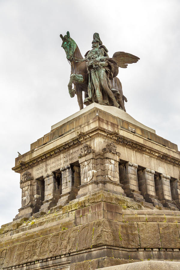 Monument aan de Keizer William van Kaiser Wilhelm I stock fotografie