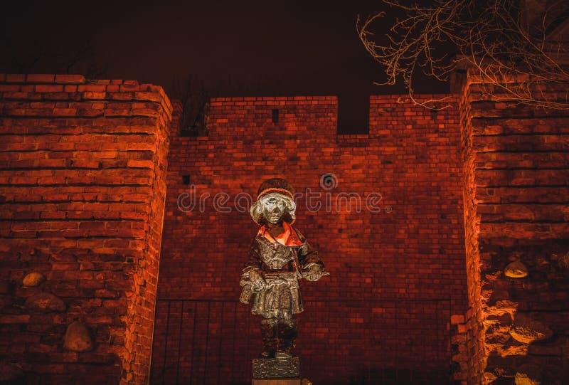 Monument aan de Kleine Opstandeling, Warshau 2, Polen royalty-vrije stock foto's