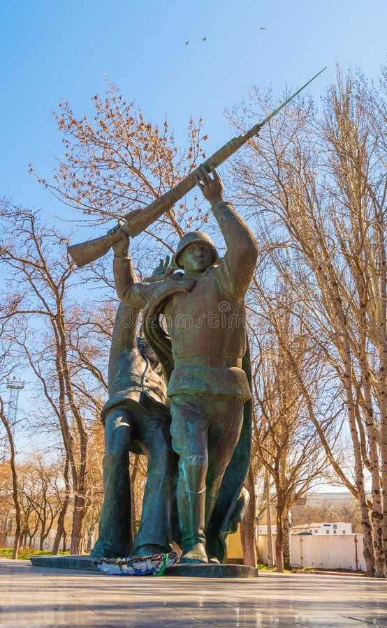 Monument aan de militairen van het landen kerch-Feodosiya stock fotografie