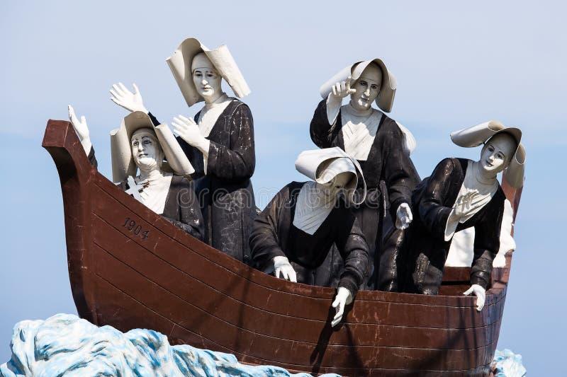 Monument aan de nonnen in Dumaguete, Filippijnen royalty-vrije stock afbeeldingen
