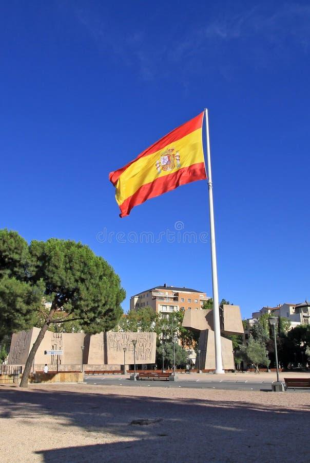 Monument aan de Ontdekking van Amerika Tuinen van Ontdekking op Plaza DE Colon (het vierkant van Columbus) Madrid, Spanje stock afbeelding