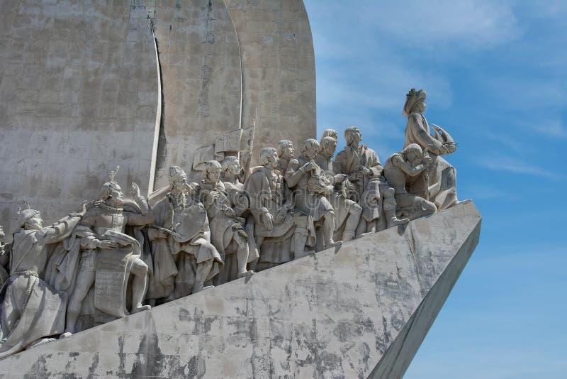 Monument aan de Ontdekkingen in Belem Lissabon Portugal royalty-vrije stock afbeeldingen