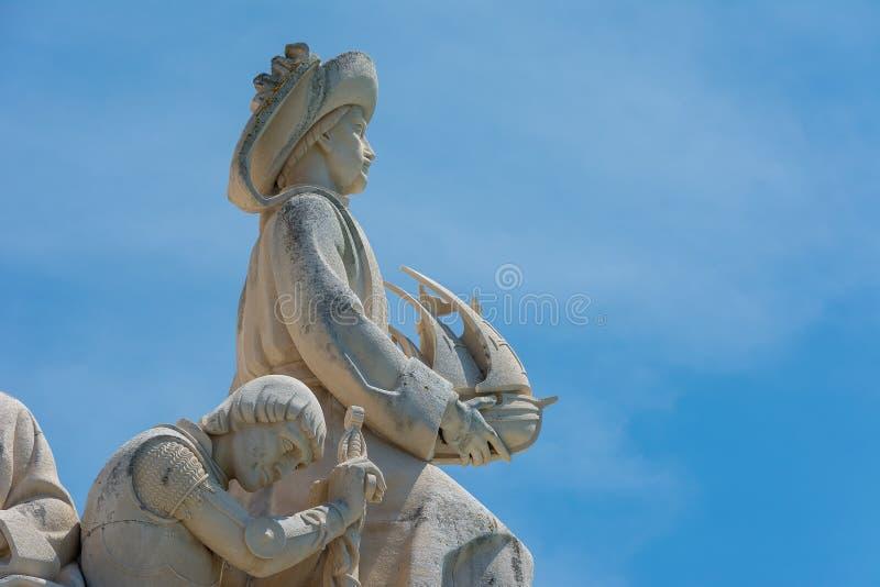 Monument aan de Ontdekkingen in Belem Lissabon Portugal stock fotografie