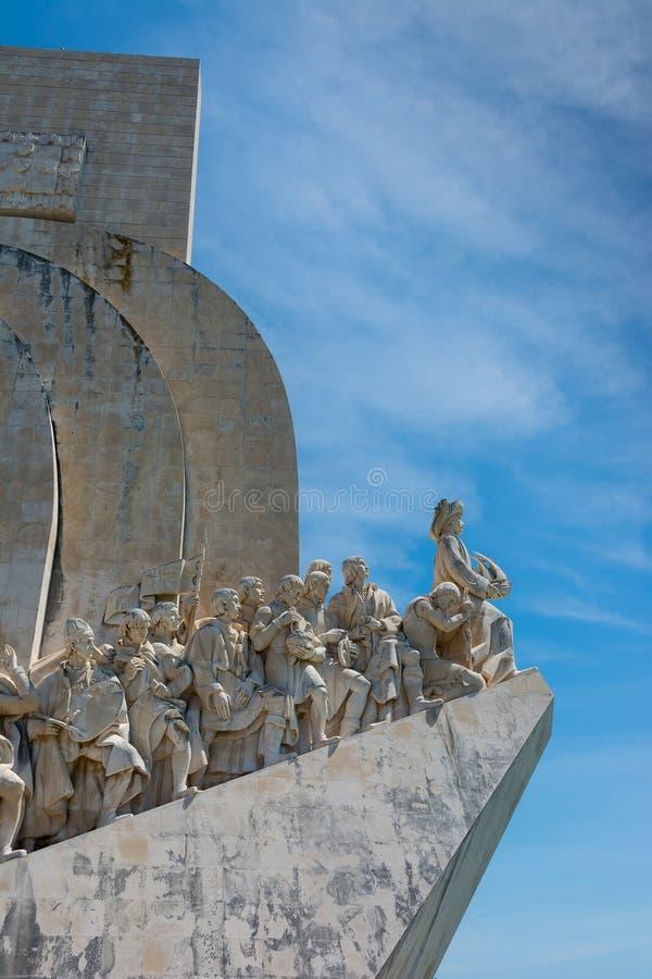 Monument aan de Ontdekkingen in Belem Lissabon Portugal stock afbeelding