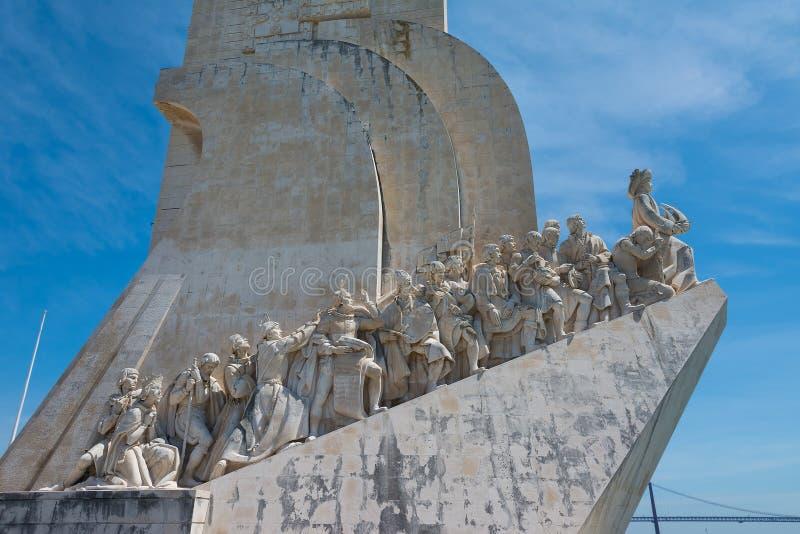 Monument aan de Ontdekkingen in Belem Lissabon Portugal stock foto's
