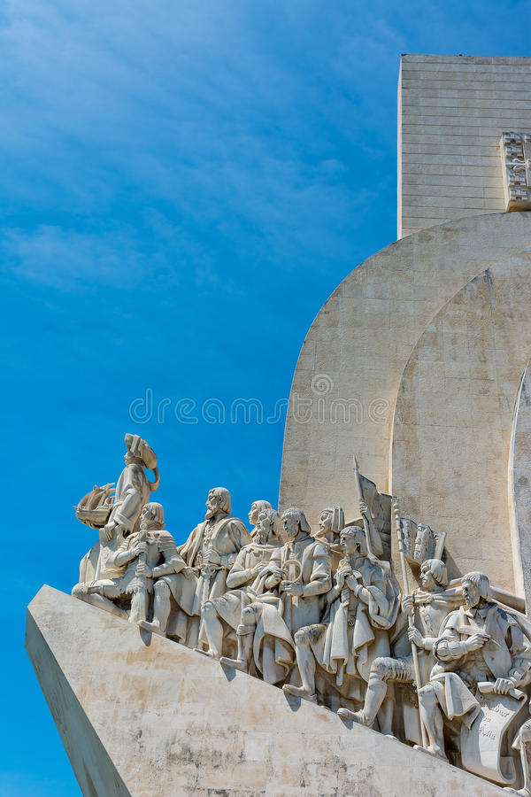 Monument aan de Ontdekkingen in Belem Lissabon Portugal stock afbeeldingen