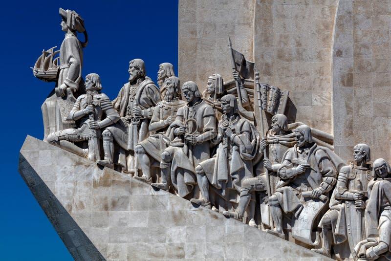 Monument aan de ontdekkingen in Lissabon, Portugal royalty-vrije stock foto's