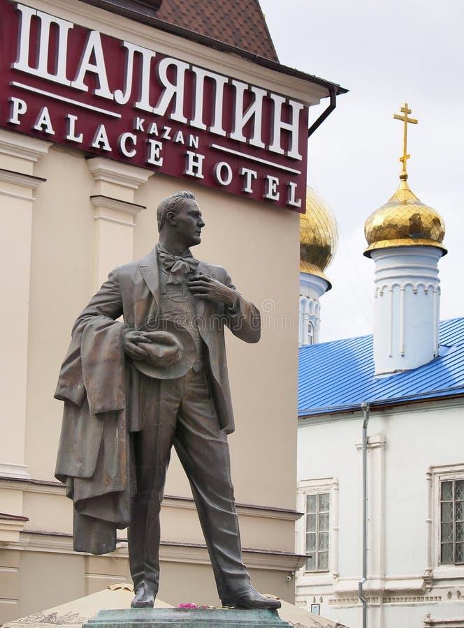 Monument aan de Russische operazanger Feodor Chaliapin stock afbeelding