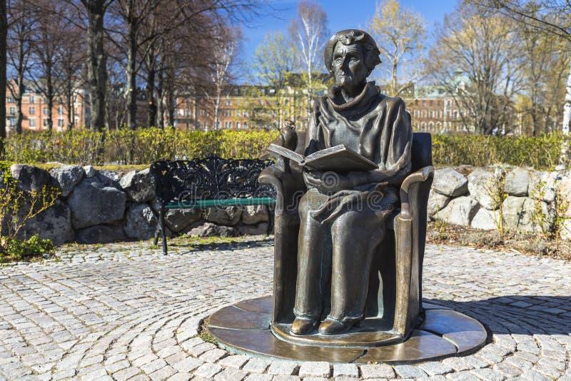 Monument aan de schrijver Astrid Lindgren stock foto