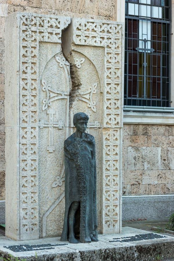 Monument aan de slachtoffers van de Armeense Volkerenmoord in 1915 stock fotografie