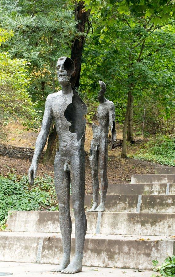 Monument aan de Slachtoffers van Communisme in Praag royalty-vrije stock fotografie