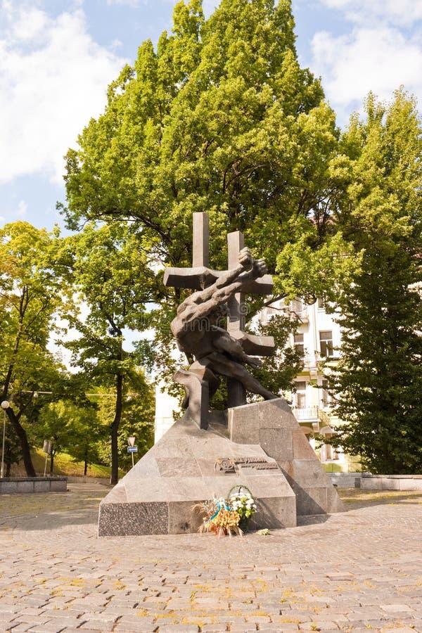 Monument aan de Slachtoffers van Communistische Misdaden in Lviv, de Oekraïne royalty-vrije stock afbeelding