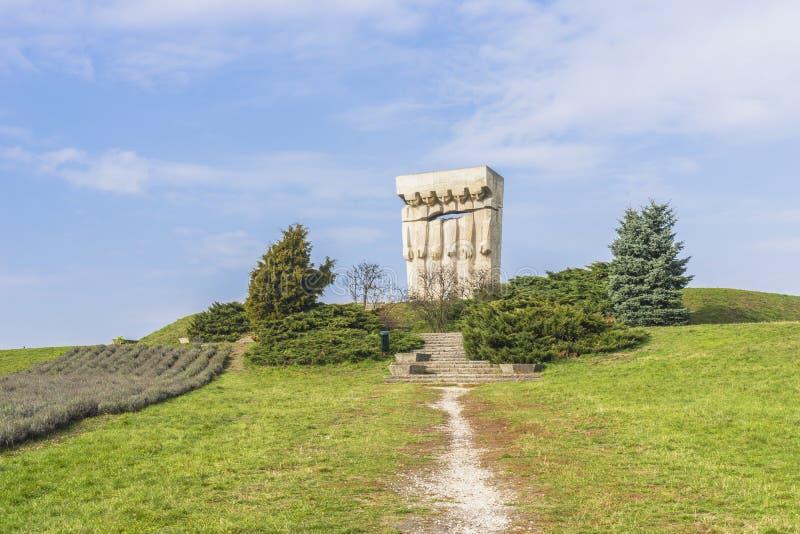 Monument aan de Slachtoffers van Fascisme in Krakau stock foto's
