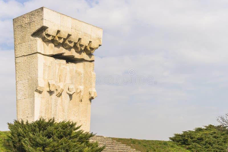 Monument aan de Slachtoffers van Fascisme in Krakau stock foto