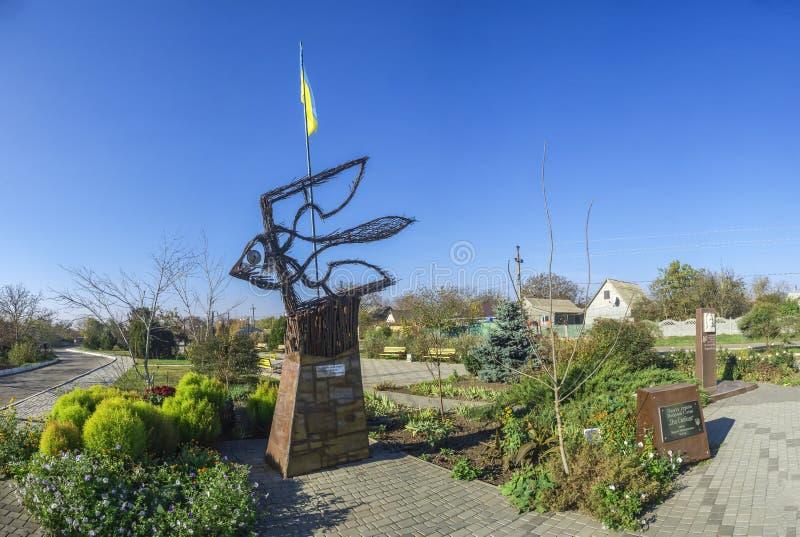 Monument aan de slachtoffers van Holodomor in Dobroslav, de Oekraïne royalty-vrije stock foto's