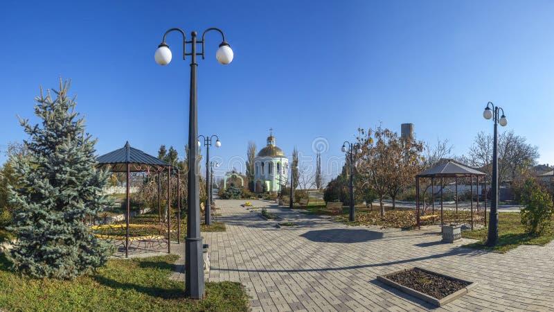 Monument aan de slachtoffers van Holodomor in Dobroslav, de Oekraïne stock foto