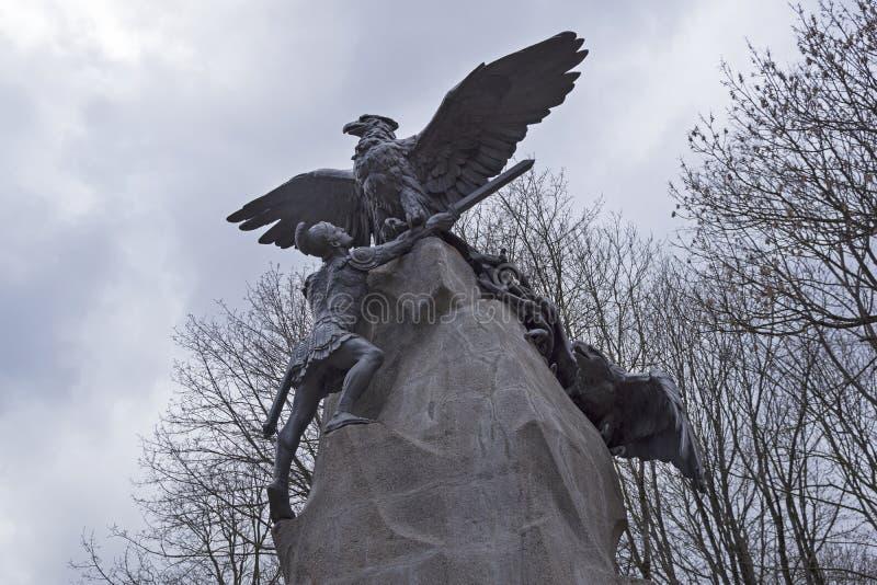 Monument aan de verdedigers van Smolensk in de Patriottische Oorlog van 18 royalty-vrije stock foto's